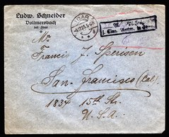 A5768) DR Infla Brief Idar 5.12.23 Barfrankatur N. San Francisco / USA - Briefe U. Dokumente