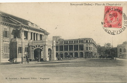 Singapore  Singapour Place De L' Imperatrice Edit Grimaud Marseille  P. Used  1916 - Singapore