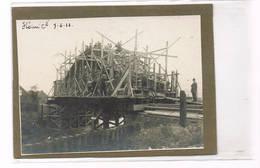 FLENU  Photo 11cm Op 8 Cm Construction Déun Pont - Mons