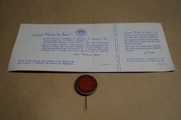 Ancienne Invitation Avec Badge Original,bal Du Rallye 1957,écurie Chardon Des Dunes à Knokke - Faire-part