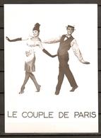 PHOTO ORIGINALE - HOMME FEMME DANCEUR - LE COUPLE DE PARIS - BELLE ÉPOQUE CANOTIER - MAN WOMAN DANCEUR - Persone Identificate