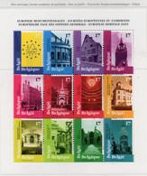 PIA  -  BELGIO  -  1998  : Giornate Europee Del Patrimonio - Vedute Parziali Di Edifici  - (Yv  Bf 2763-74) - Feuillets