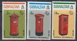 Gibraltar 1974 UPU / Post Boxes 3v ** Mnh (41505G) - Gibraltar