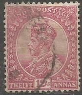 India - 1912 King George V 12a Claret Used    SG 184  Sc 92 - India (...-1947)