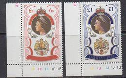 Gibraltar 1977 Silver Jubilee 2v (corners) ** Mnh (41505G) - Gibraltar
