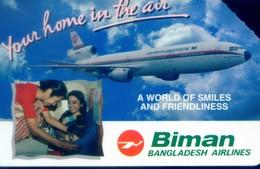 Bangladesh Urmet Cards, Bangladesh Airlines , Plane , 200u (1pcs) - Bangladesh