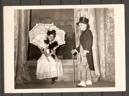 PHOTO ORIGINALE - PETIT GARCON PETITE FILLE DANCEUR - BELLE ÉPOQUE OMBRELLE - SMALL BOY SMALL GIRL - UMBRELLA - Persone Anonimi