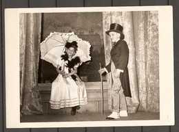 PHOTO ORIGINALE - PETIT GARCON PETITE FILLE DANCEUR - BELLE ÉPOQUE OMBRELLE - SMALL BOY SMALL GIRL - UMBRELLA - Anonymous Persons