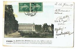 FRANCE - Carte Jardin Des Plante En Couleur - 22/6/09 - 5c Semeuse En Paire N° 137 - Var - Museen