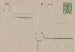 Ganzsache Sow. Zone  Michel  P 3d **  ( € 5,-) - Zone Soviétique