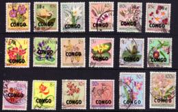 Congo 0382/99 (o) Fleurs Surchargé Congo - République Du Congo (1960-64)