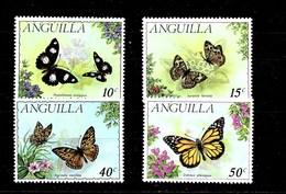 Serie De Anguilla Nº Yvert 92/95 ** MARIPOSAS (BUTTERFLIES) - Anguilla (1968-...)