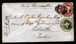 A5769) UK Cover Wrexham 04/06/50 To Calcutta / India With Mi.6 And 7 - 1840-1901 (Viktoria)
