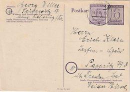 """Ganzsache Sow. Zone ( WEST SACHSEN) Michel  P 17 + PZ 6 Pfg """"LEISNIS 14.3.46""""   ( € 15,-) - Zone Soviétique"""