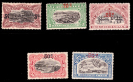 Congo 0095/99* Surcharge Typo H - 1894-1923 Mols: Neufs