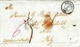1854- Letter From MENGEN To Metz ( France ) - Baden
