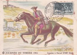 France > Cartes-Maximum FDC 1964 Journée Du Timbre 1964 Cache Saint Brieuc 14 03 1964 - Cartas Máxima