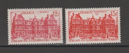 FRANCE / 1948 / Y&T N° 803/804 ** : Palais Du Luxembourg 12F & 15F - Gomme D'origine Intacte - France