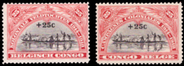 Congo 0132/33 SG Sans Gomme / Without Gum - Congo Belge