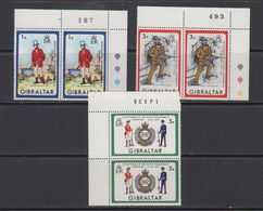 Gibraltar 1972 Pioniers 3v (pair, Corners) ** Mnh (41505L - Gibraltar