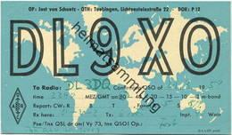 QSL - Funkkarte - DL9XO - 7207. Tübingen - 1959 - Amateurfunk