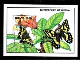 Hoja Bloque De Ghana Nº Yvert HB-190 ** MARIPOSAS (BUTTERFLIES) - Ghana (1957-...)