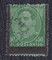 Kingdom Of Yugoslavia 1934 King Aleksandar, Error - Moved Black Frame, Used (o) Michel 286 - Imperforates, Proofs & Errors