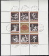 ÖSTERREICH 1294-1301, Kleinbogen, Gestempelt, 100 Jahre Wiener Staatsoper, 1969 - Blocks & Sheetlets & Panes