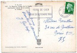 CALVADOS - Dépt N° 14 = CAEN GARE 1969 = FLAMME TEMPORAIRE = SECAP  ' FOIRE' - Postmark Collection (Covers)