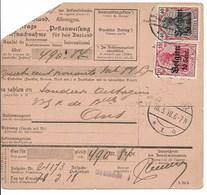 Postwissel Met Nrs 14 En 20 En Verso 14 Van 18.3.18 Van Brussel 1 Naar Ans - Guerre 14-18