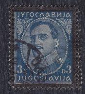 Kingdom Of Yugoslavia 1934 King Aleksandar, Error - Double Perforation, Used (o) Michel 291 - Imperforates, Proofs & Errors