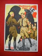 """HJ-Hohlwein-Karte """"Deutschlandlager 1935 - Welttreffen Der HJ"""", Ungelaufen SELTEN !! - Deutschland"""