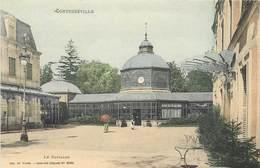 CPA 88 Vosges Contrexeville Lot 4 Cartes Le Pavillon + Intérieur Du Théâtre + Le Casino + Entrée Etablissement - Vittel Contrexeville