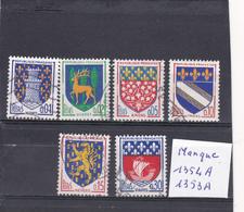 France Oblitéré 1962-65 N° 1351A/1354B  Armoiries De Villes - France