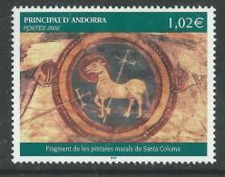 Andorre  N° 574  XX  Fragment De Peintures Murales De L'église Santa Coloma Sans Charnière TB - French Andorra