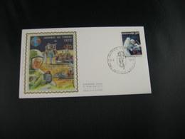 """BELG.1972 1622 FDC HASTIERE-LAVAUX Zijde/soie """"Dag Van De Postzegel - Journée Du Timbre """" - FDC"""