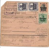 Postwissel Met Nrs 12, 16 (vert. Paar) En 19 Van 15.7.18 Van Hasselt Naar Bree - WW I