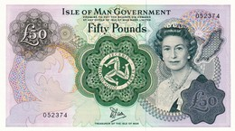 """ISLE OF MAN 50 POUNDS ND 1983 UNC P-39a """"free Shipping Via Registered Air Mail"""" - Isle Of Man / Channel Island"""