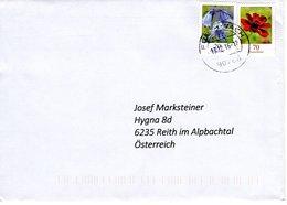 Falsches Datum ! Auslands - Brief Von 90768 Fürth - Vach Mit Frank. Blumen- 20 Cent Hasenglöckchen 13.12.2016 ?? Od 2018 - BRD