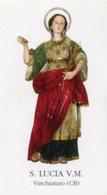 Vinchiaturo (Campobasso) - Santino SANTA LUCIA Vergine E Martire - PERFETTO P87 - Religione & Esoterismo
