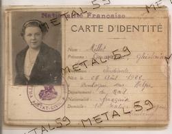 Carte D'identité 1938 Personne Née à Boulogne Sur Helpe Résidant à Maubeuge - Old Paper