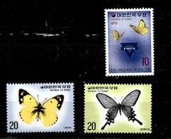 2 Serie De Taiwan Nº Yvert 708 Y 915/16 ** MARIPOSAS (BUTTERFLIES) - 1945-... Republik China