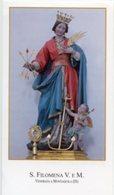 Montaquila (Isernia) - Santino SANTA FILOMENA Vergine E Martire - PERFETTO P87 - Religione & Esoterismo