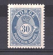 Norvège - 1921/29 - N° 95A - Neuf * - Cor De Poste - Ungebraucht