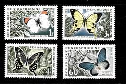 Serie De Centroafricana Nº Yvert 31/34 * MARIPOSAS (BUTTERFLIES) - República Centroafricana