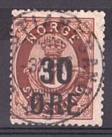 Norvège - 1905/08 - N° 59 - Cor De Poste Surchargé - Gebraucht