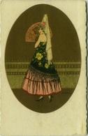 GOBBI SIGNED 1910s POSTCARD - GLAMOUR LADY & FAN - N. 2554 (BG71) - Illustrateurs & Photographes