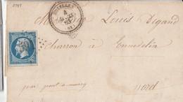 N° 14/ L.(.) GC 591 De BOYELLES  /4.3.63-> PONT A MARCQ Par Lille & Arras  (Pothion Indice 13) - Marcophilie (Lettres)