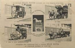 PARIS LA MAISON FELIX POTIN POSSEDE LES PLUS BEAUX ATTELAGES  PRIX REMPORTES AU CONCOURS HIPPIQUE DE 1911 CARTE MULTIVUE - Other