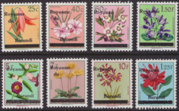 Burundi 0001/7 + 3A  Fleurs MNH - Burundi
